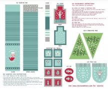 Lewis & Irene - Christmas Glow - 6709 -  Elf Accessories Panel, Blue & Aqua - C50.1 - Cotton Fabric